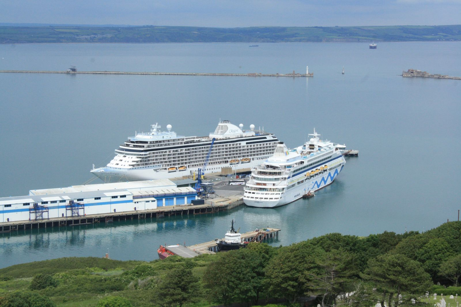 Two Cruise Ships arrive into Portland Port at once!