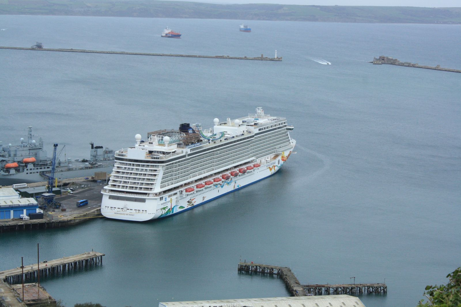 The end of the cruise season for Portland Port with a record breaking ship