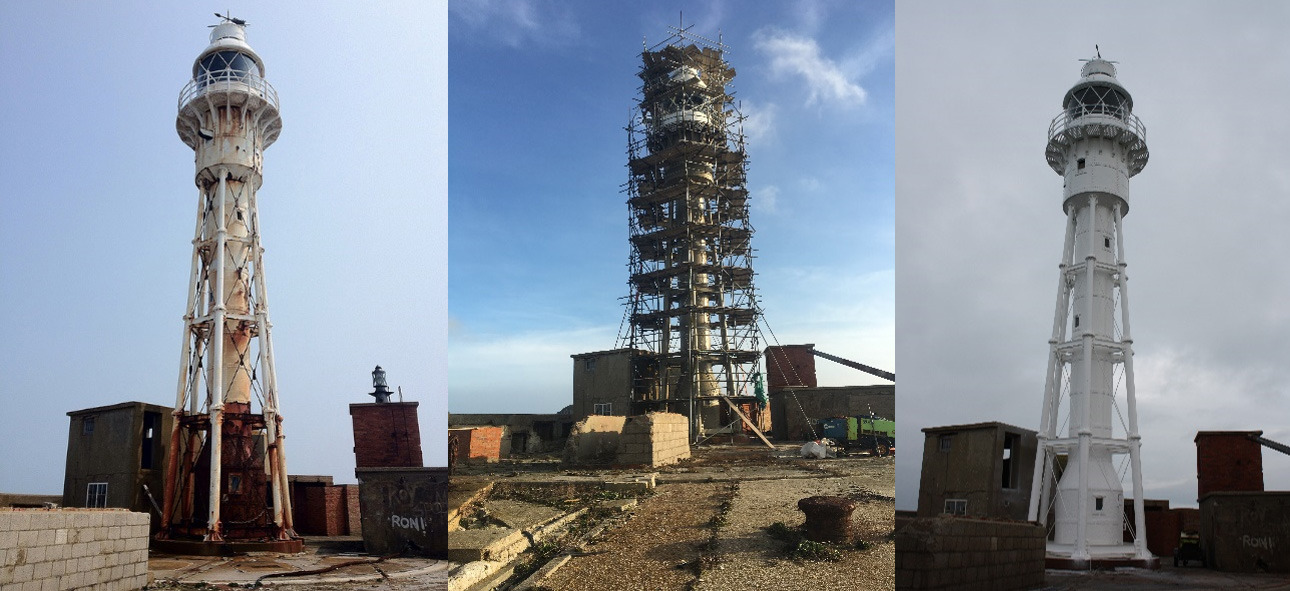 Portland Harbour Breakwater Lighthouse Restoration